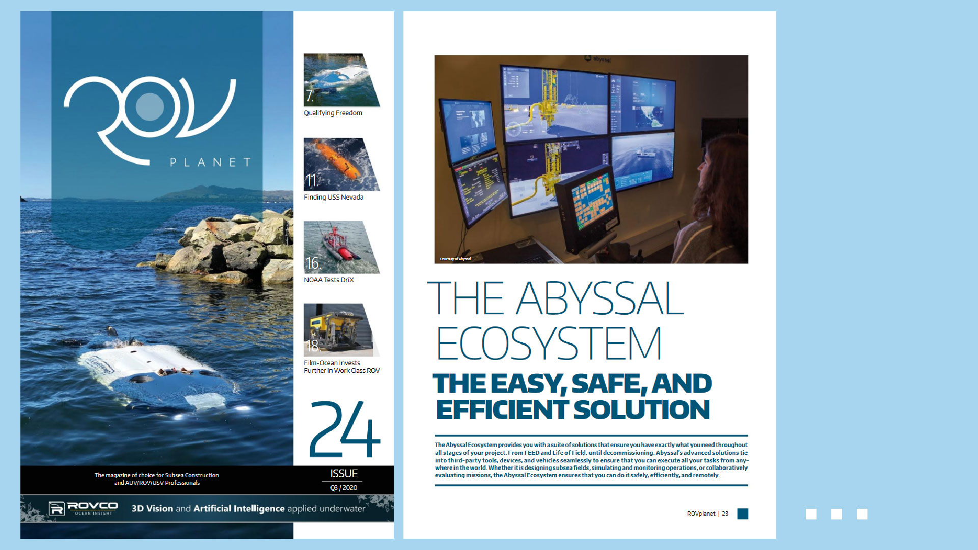 Abyssal featured in ROV Planet Magazine